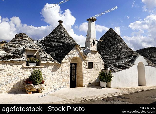 Trulli in Alberobello, Puglia, Italy
