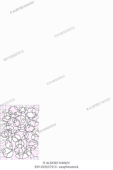 Background from a variety of light purple circles and ovals of varying thickness of the lines