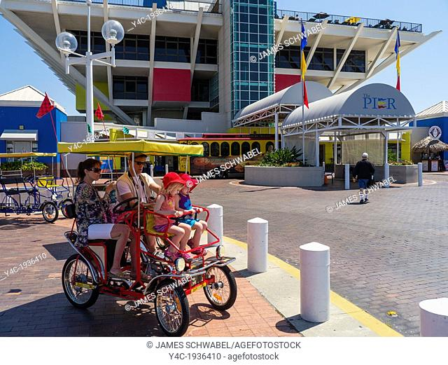 Riding a Surrey on the Pier in St Petersburg Florida