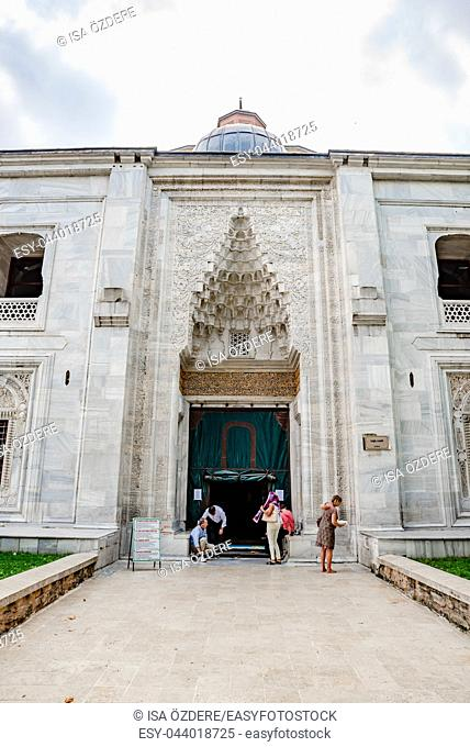 People visit Green Mosque also known as Mosque of Mehmed I is a part of the larger complex in Bursa,Turkey. 20 May 2018