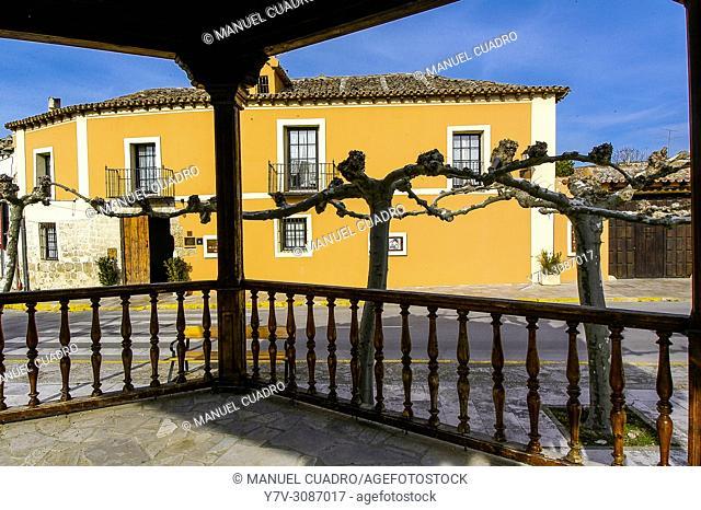 Vista de La Posada de la Casa del Abad. Ampudia, Palencia Province, Castilla y León, Spain