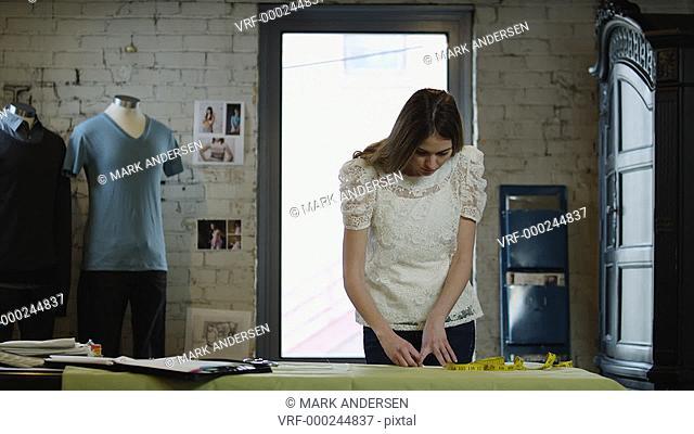 MS Fashion designers working in studio / Salt Lake City, Utah, USA