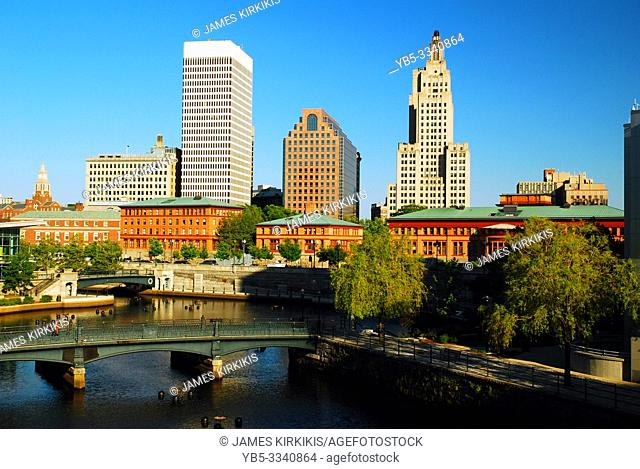 The skyline of Providence Rhode Island