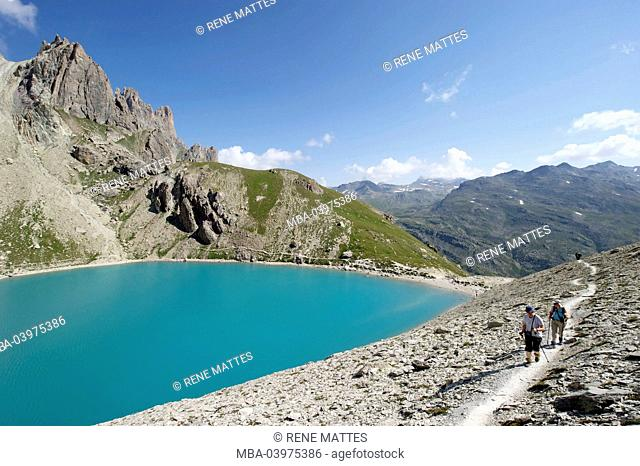 France, Hautes-Alpes, Brianconnais area, the upper valley of La Claree, Lac Beraudes (2504m)