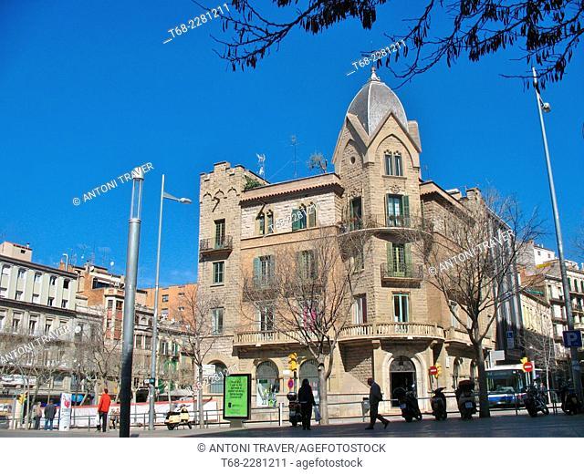 Sant Domènech Square in central Manresa, Spain