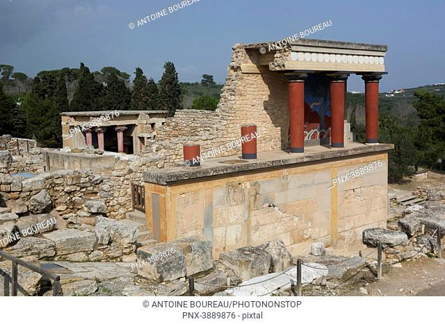 Knossos, Minoan archaeological site near Heraklion, Minoan civilization, Crete, Greece