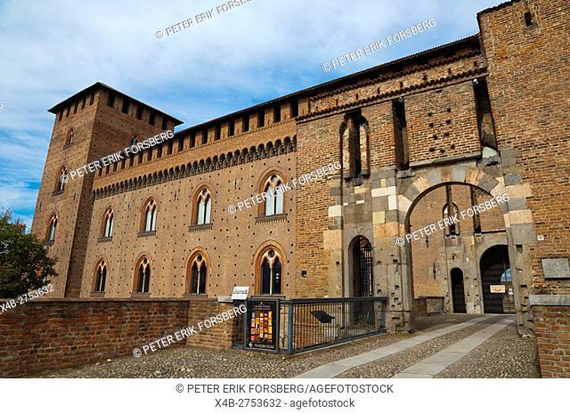 Castello Visconteo, Visconti castle, Pavia, Lombardy, Italy