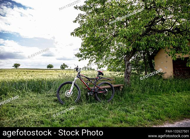Bamberg, Germany 05/26/2020: Symbolic images - 2020 In the spare time with the bike on the go / Vacation in Germany with the bike / Bicycle paths / bike roads /...