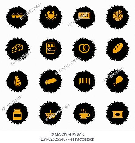 Grocery vector icons for web sites and user interface