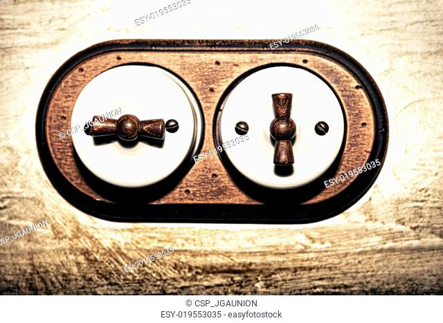 Ancient style double light switch