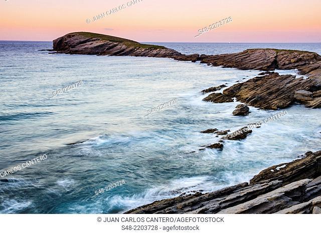 Cabo Cebollero or Punta Sonabia. Sonabia. Cantabria. Spain. Europe