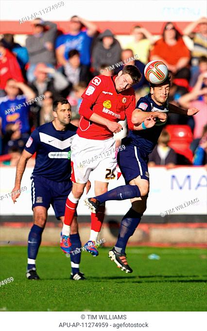 12 05 2012 Crewe, England Crewe Alexandra F C English midfielder Nick Powell in action during the NPower League 2 match between Crewe Alexandra v Southend...