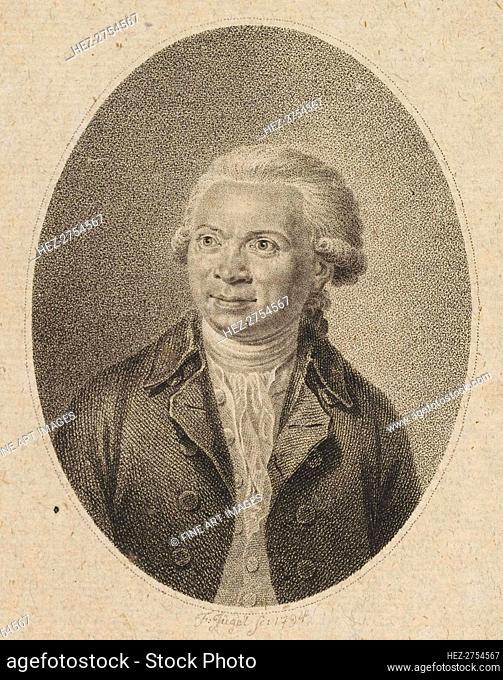 Portrait of the Composer Johann Abraham Peter Schulz (1747-1800) , 1794. Creator: J³gel, Johann Friedrich (1772-1833)