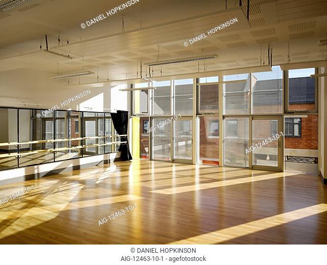 Dance studio at the Cornerstone Arts Centre, Didcot, Oxfordshire, England, UK
