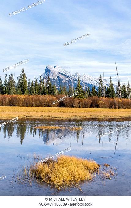 Mount Rundle, Vermilion Lakes, Banff National Park, Alberta, Canada