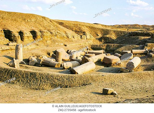 Egypt, Nile Delta, Tanis, the East temple, built by Ramses II and reused by Osorkon II