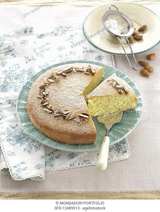 Torta di mandorle (almond cake, Italy)