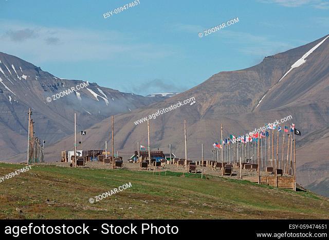 Beautiful nature and landscape near Longyearbyen, Spitsbergen in Norway