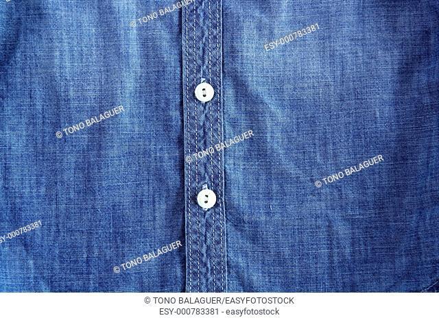 denim blue jeans shirt with buttons detail texture