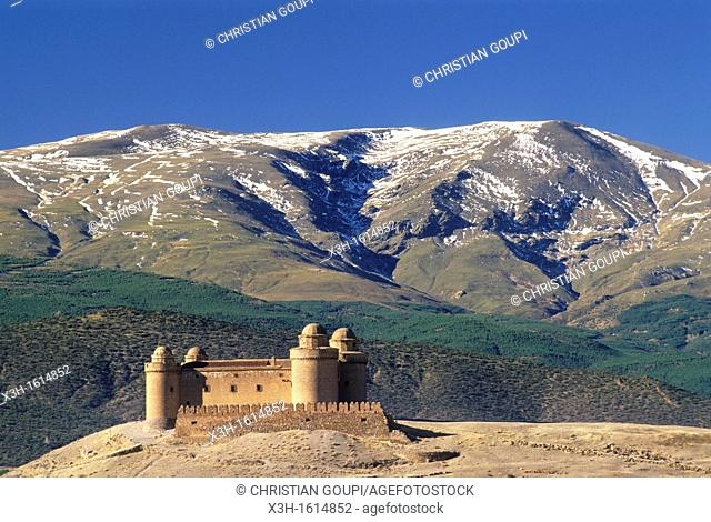 Castle of La Calahorra in the Sierra Nevada foothills, Province of Granada, Andalusia, Spain, Europe