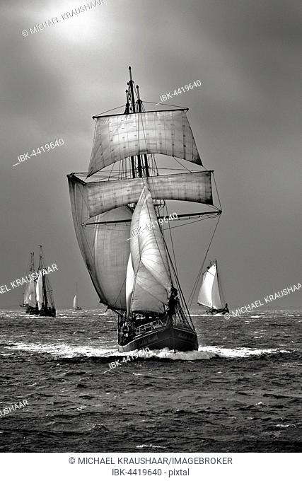 Sailing ship, Windjammer, North Sea, Germany