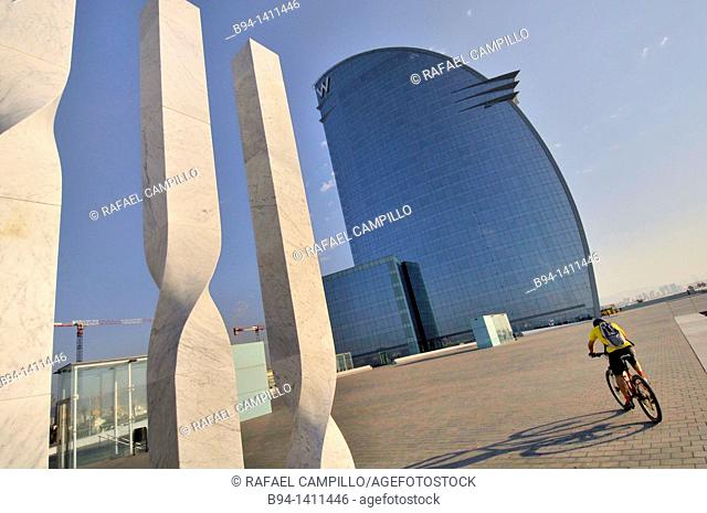 W Barcelona hotel (also known as Vela Hotel), Port area, 2009.Architect Ricardo Bofill, born in Barcelona, December 5, 1939. Postmodernist architect