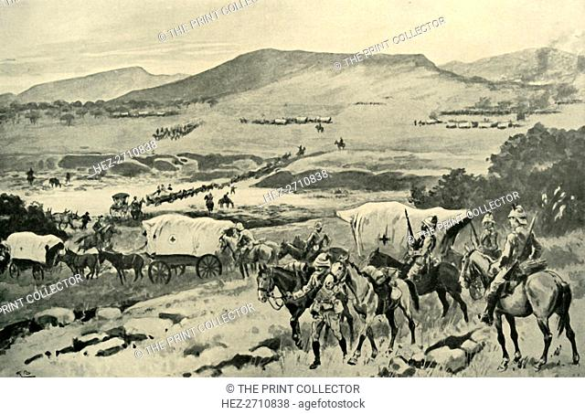 'Generals French and Hutton Crossing the Vaal into Transvaal Territory', (1901). Creator: Gordon Frederick Browne