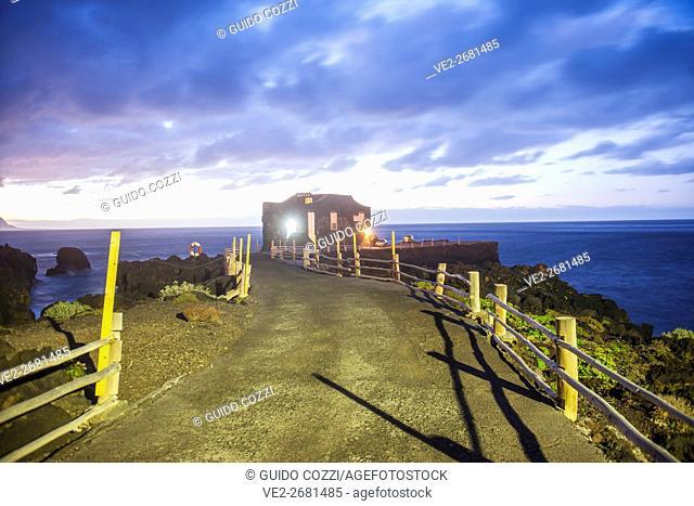Spain, Canary Islands, El Hierro. El Golfo, hotel on the reef of Las Puntas