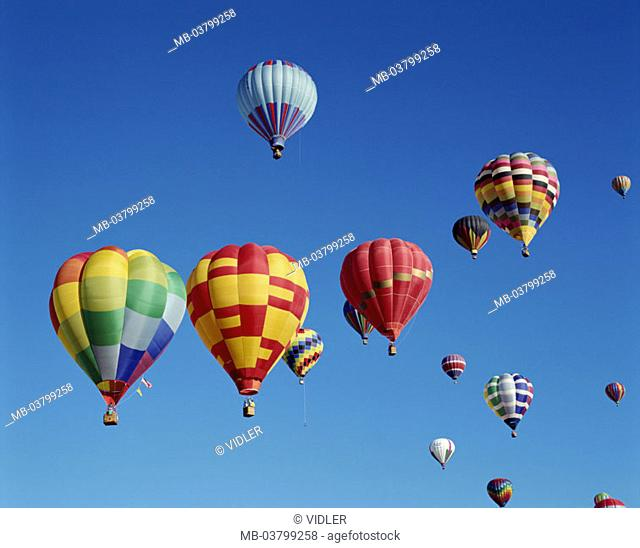 heaven, hot-air balloons, different,  colorfully  USA, New Mexico, Albuquerque, Hot air balloon Fiesta balloon festival festival, event, balloons, balloon trip