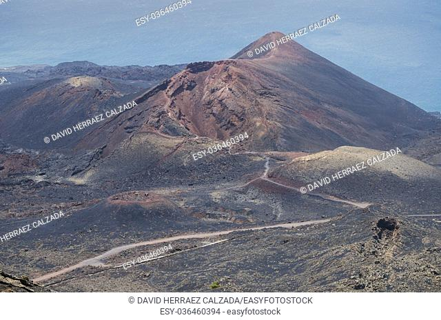 San Antonio Volcano. Volcanic landscape in La Palma, Canary islands, Spain