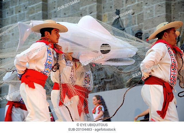 Plaza Tapatia Guerrero folk dance performance in carnival