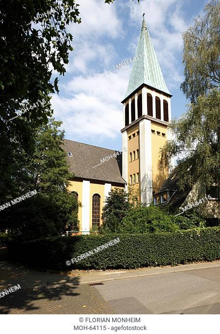 Baubeginn 1909, erste von Otto Bartning in Deutschland erbaute Kirche
