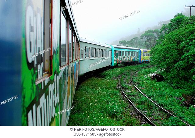 Train from Curitiba to Paranaguá, Paraná, Brazil, 2009