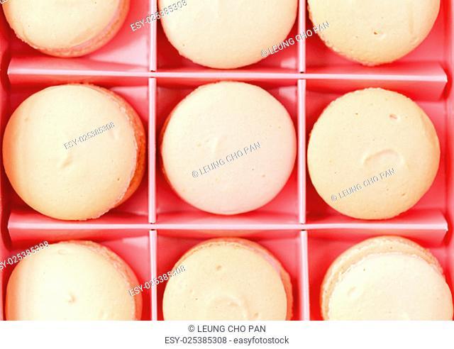 Gift box packaging of macaroons