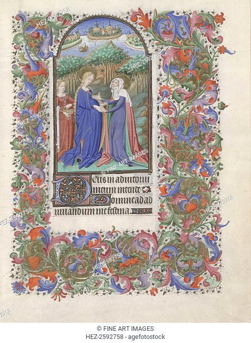 The Visitation (Book of Hours), 1440-1460. Found in the collection of the The Morgan Library & Museum, New York