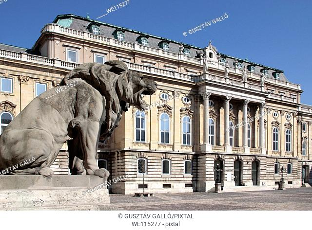 Buda castle Royal Palace in Budapest, Hungary