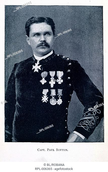 Captain Paul Boyton Captain Paul Boyton. Officer wearing medals. Portrait. Image taken from The story of Paul Boyton. Originally published/produced in G