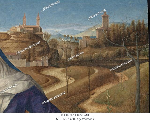 Piet (from the Don delle Rose Collection), by Giovanni Bellini, 1504 - 1505 about, 16th Century, oil on panel, cm 65 x 87