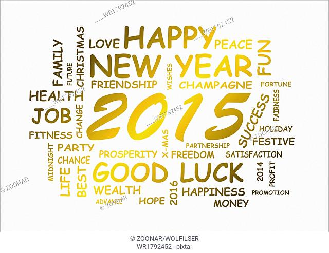 word cloud for new year 2015