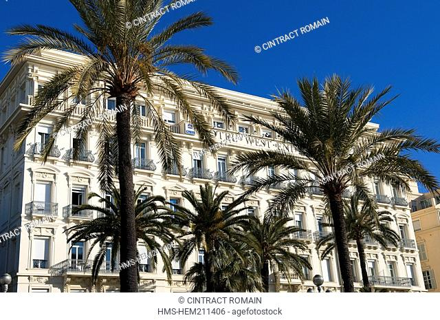 France, Alpes Maritimes, Nice, West End Best Western Hotel on the Promenade des Anglais Walk of the English