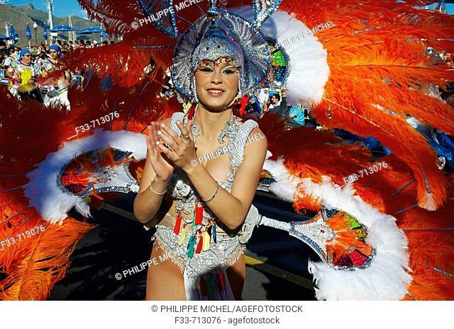 Spain. Canary islands. Tenerife. Carnival of Santa Cruz de Tenerife