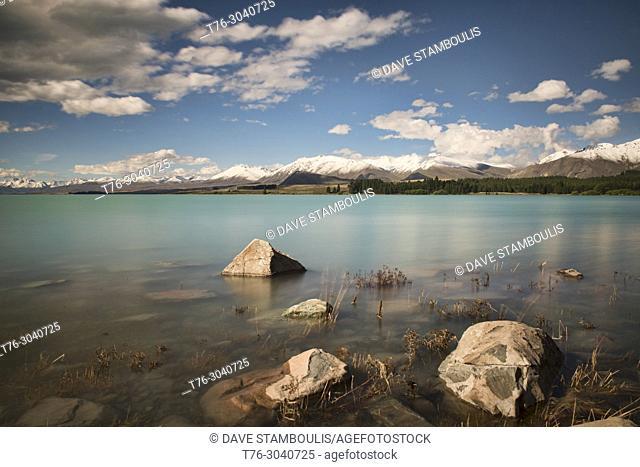 Pristine Lake Tekapo, South Island, New Zealand