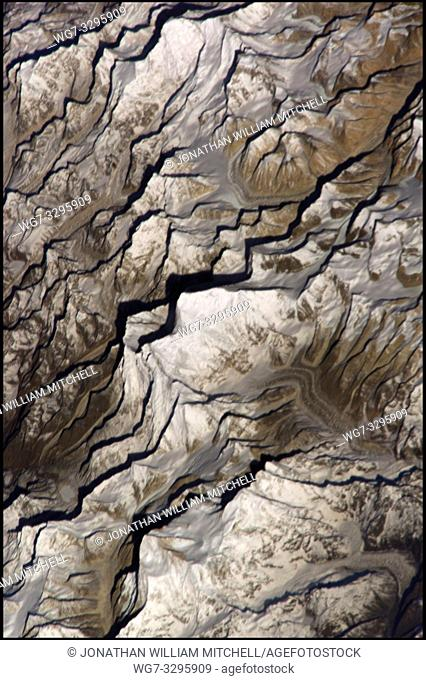 EARTH Nepal / Tibet -- 20 Mar 2002 -- Mount Everest (center) photographed from the ISS (International Space Station). Situated on the border between Nepal and...