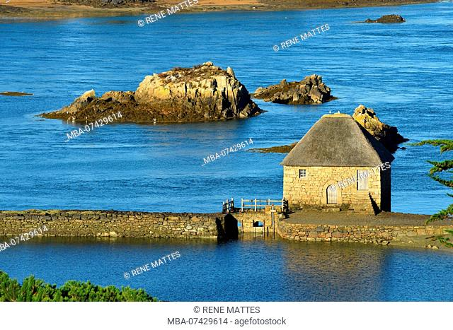 France, Cotes d'Armor, Ile de Brehat, Birlot tide mill, built in 1632