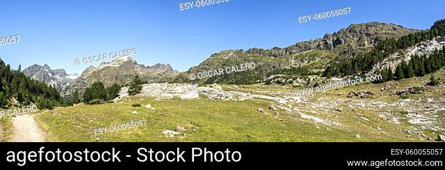 Pyrenees at Huesca panoramic view