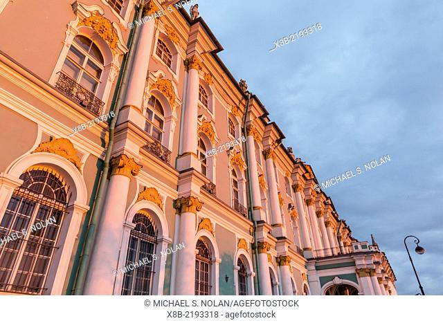 The Winter Palace at sunset, The Hermitage, St. Petersburg, Russia