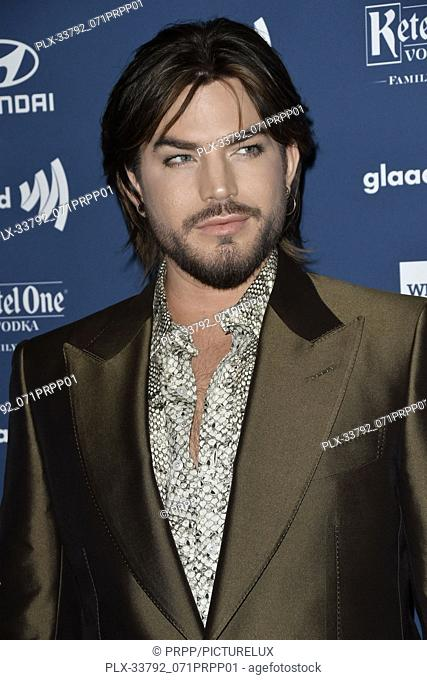 Adam Lambert at the 30th Annual GLAAD Media Awards held at the Beverly Hilton Hotel in Beverly Hills, CA on Thursday, March 28, 2019