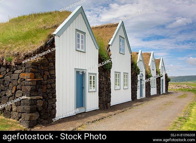 Sod house settlement Grenjadarstadur in Northern Iceland, Nordurland Eystra, Iceland