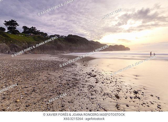 Arenas Beach in Pechón, Cantabria, Spain
