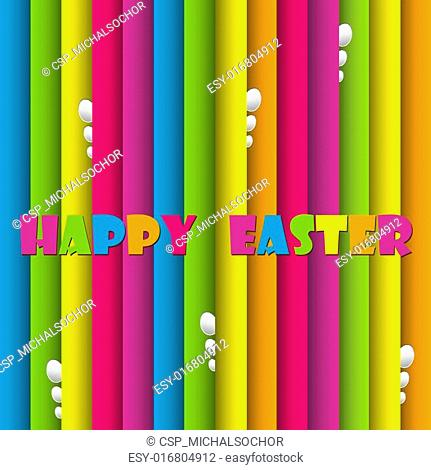 Happy easter cards illustration retro vintage with easter egg and fonts